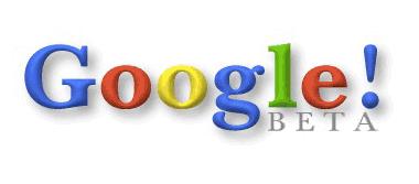 Genèse du référencement - logo google beta